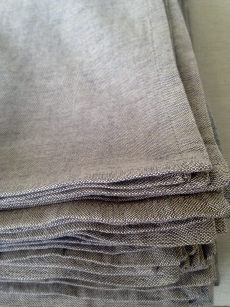 Natural Linen Napkins in Taupe www.albanyeventhire.com.au