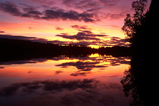 Sunset in Boundary Waters