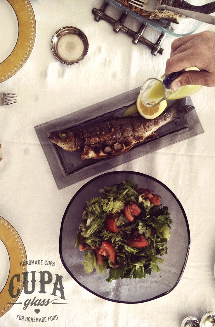 Here fishy, fishy! Whole roasted #fish stuffed with fresh #herbs http://www.cupa.glass/blog/post/roasted-fish-with-herbs
