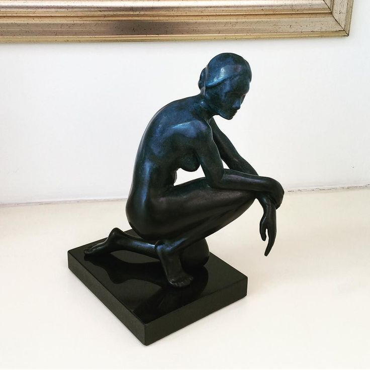 """""""Contemplation"""" (2016) looking good in her new home! #sculpture #art #fineart #figurativeart #modernclassic #bronze #newborn #artist #inspiredlife"""