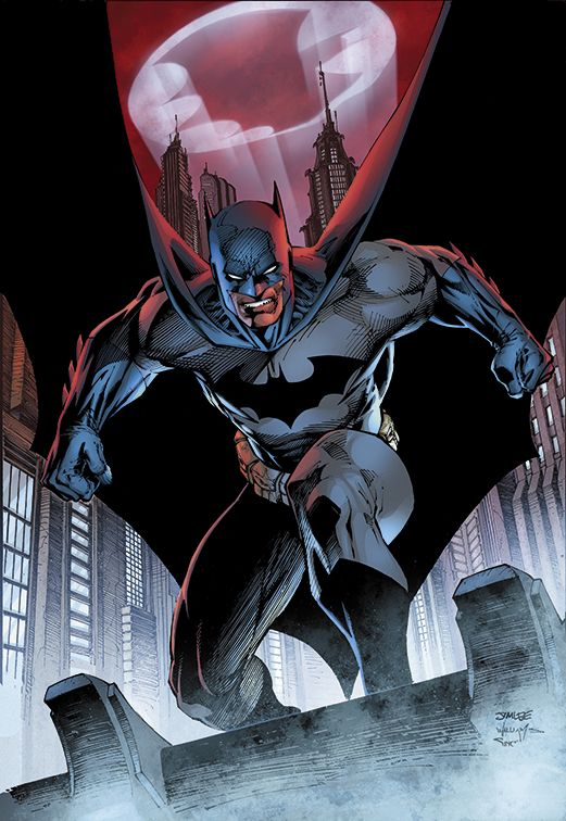 I love how Jim Lee put the Bat Signal in the cape in this one! Comic Art Community GALLERY OF COMIC ART