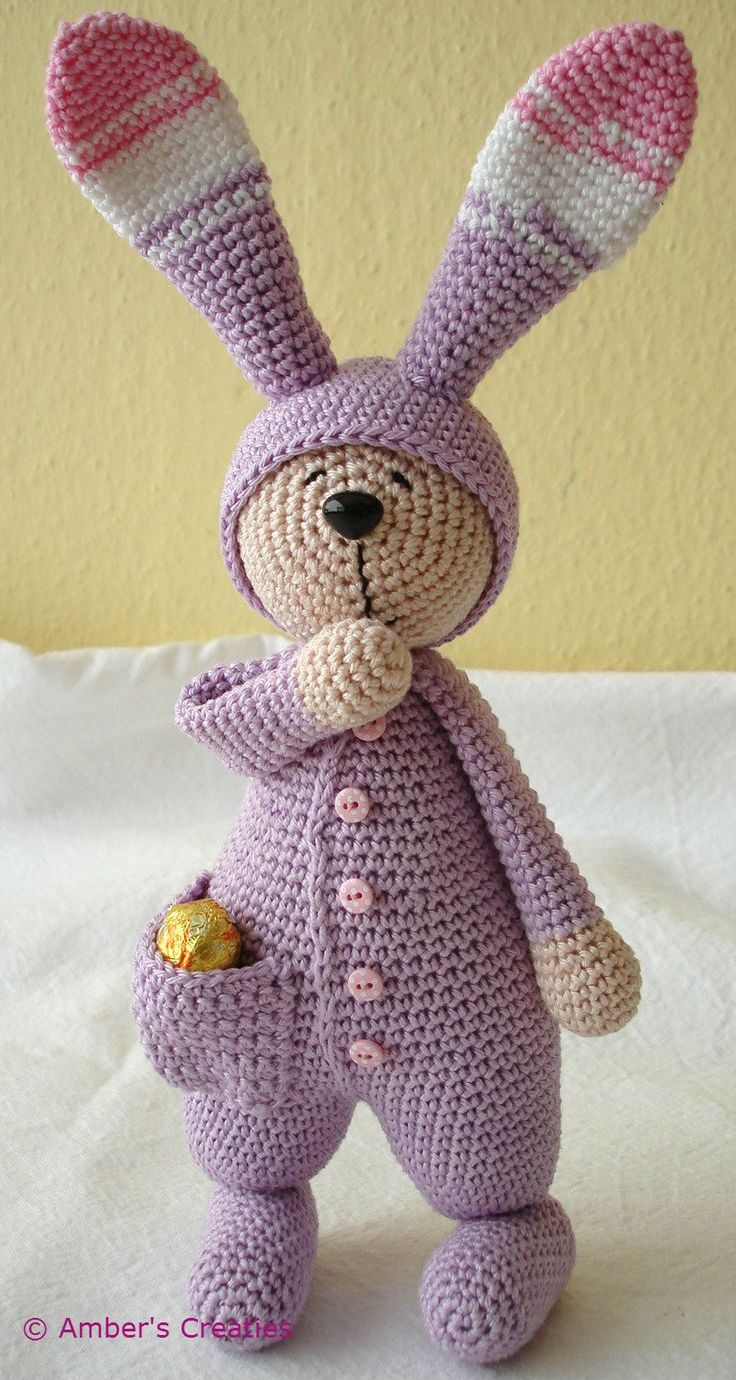 Sleepy rabbit from Amber's Creaties Aaaah ! si seulement je savais crocheter ! <3