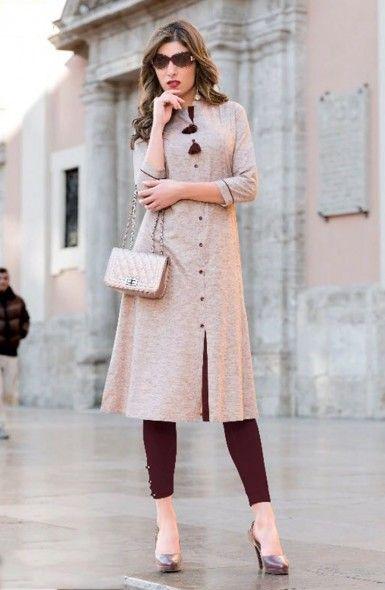 Casual Wear Cotton Plain Fancy Kurtis Wholesale Collection  #kurti #clothing #shopping #fashion