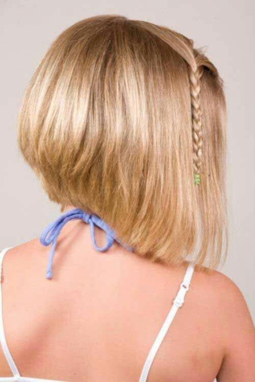 blonde bob with braid