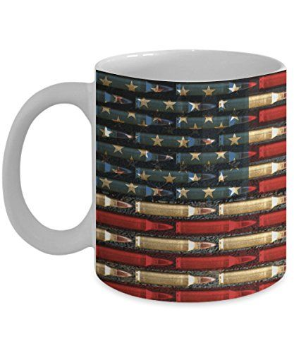 5d21ddf7cb47 Ar-15 Mug 11oz Bullet Coffee Mug Flag Patriotic United States Freedom Gift  for Gun Owner 2nd Amendment Cup