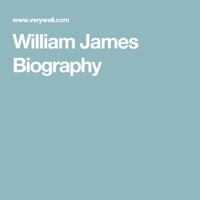 William James Biography