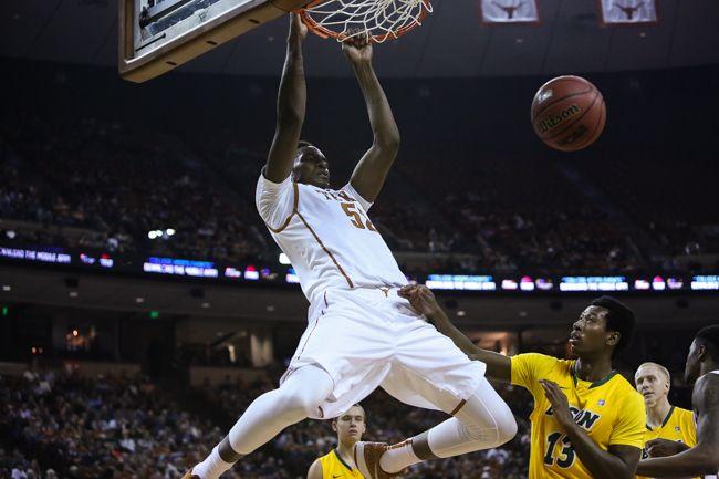 Freshman Myles Turner of UT declares for the NBA draft.