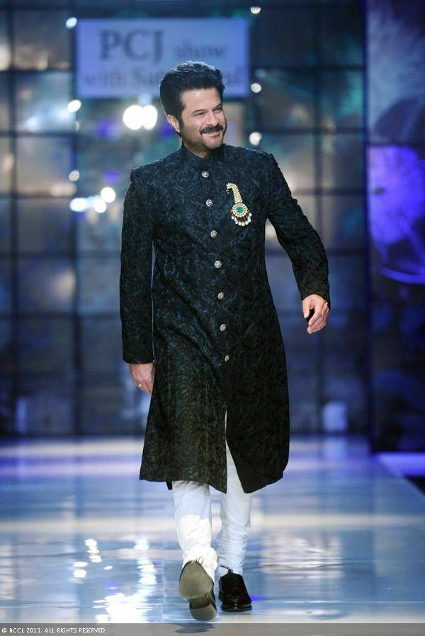 Anil Kapoor walks for Satya Paul at Delhi Couture Week 2013