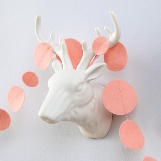 This Garland is Shaping Up (Light Pink)  | The Land of Nod