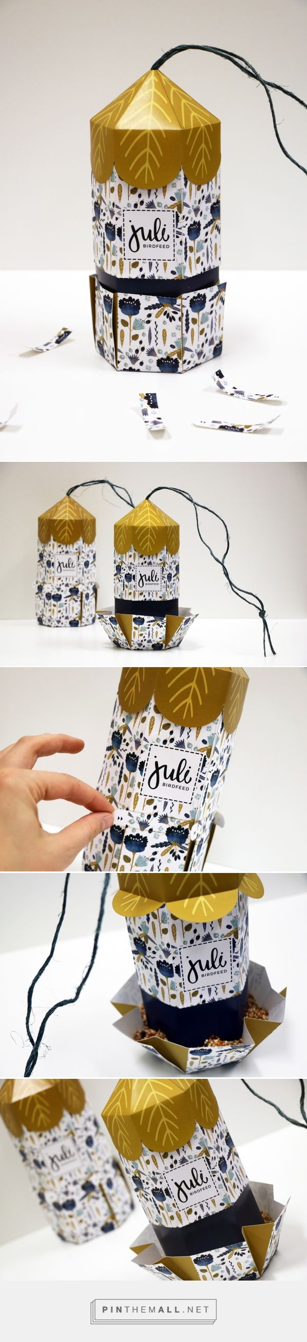 Juli Bird Feeder by Ashley Philip. Source: Behance. Pin curated by #SFields99 #packaging #design #inspiration # branding #structural #innovation