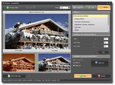 Smart Slideshow Maker - interface screenshot