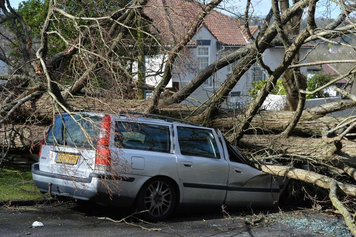 Storm Katie: Powerful winds bring power outages, Easter travel chaos to western Europe