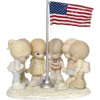 """""""Together We Stand, United In Faith"""" Bisque Porcelain Figurine"""