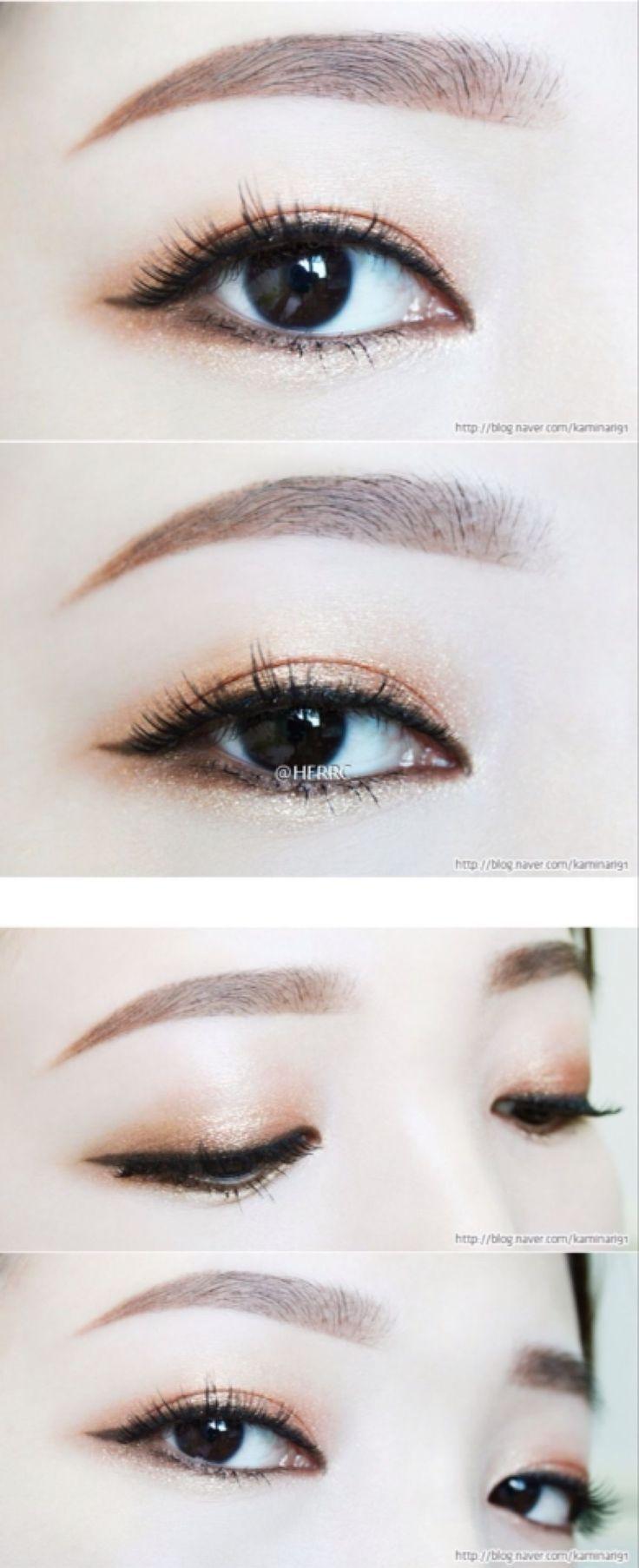 Light Smoked Asian Cat Eye Asian Eye Makeup Monolid Makeup
