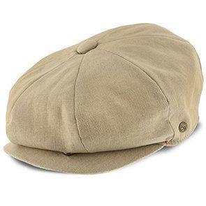 2fa85442b Hampton - Walrus Hats Tan Linen 8 Panel Newsboy Cap | Men's hat ...