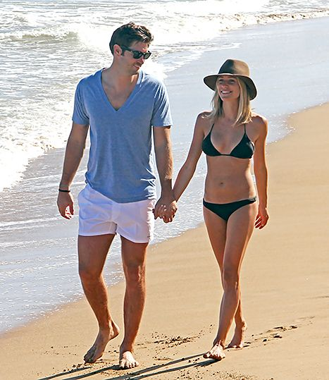 """Pretty much perfect. Days before admitting that she thinks she can be """"too skinny,"""" Kristin Cavallari displayed a toned physique while on vacation with her husband Jay Cutler in Puerto Rico."""