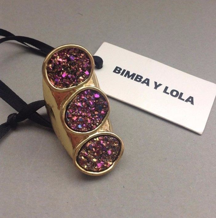 Bimba Y Lola Large Gold Tone Ring NWT, Greece #BimbaYLola