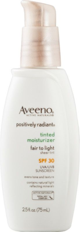 Aveeno Positively Radiant Tinted Moisturizer SPF 30 Fair To Light Ulta.com - Cosmetics, Fragrance, Salon and Beauty Gifts