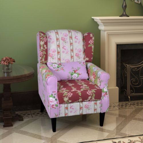 New-Patchwork-Relax-Armchair-Flora-Recliner-Lounge-Arm-Chair-Sofa-Seat-Furniture