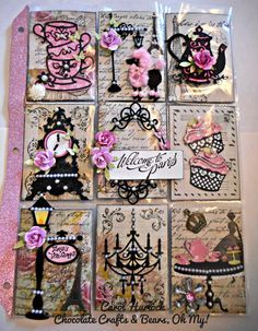 Pocket Letters ❤ Chocolate Crafts and Bears, Oh My: CottageCutz Paris Teaparty Pocket Letter