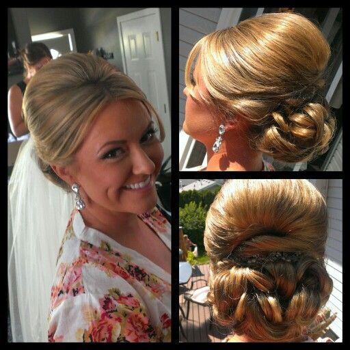 The beautiful bride! -Bridal updo