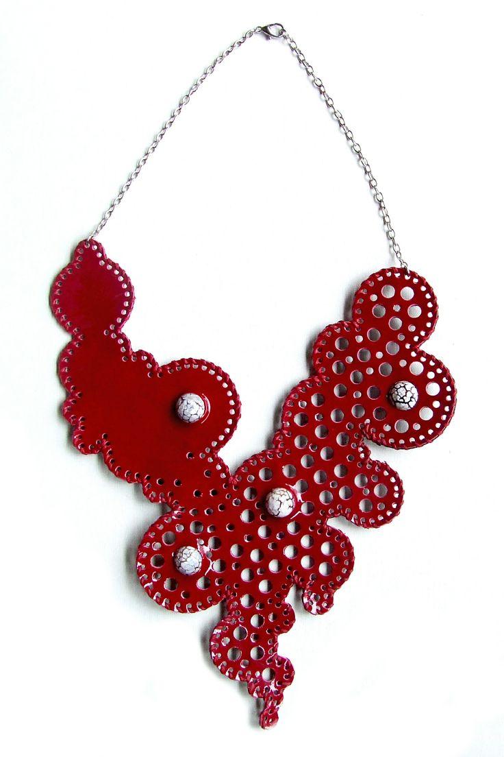 Necklace / leather / handmade Darmara leather jewelry https://www.facebook.com/DarmaraLeather