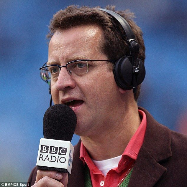 Mark Pougatch, a presenter for BBC Radio 5 Live, pictured in action during a stint on air