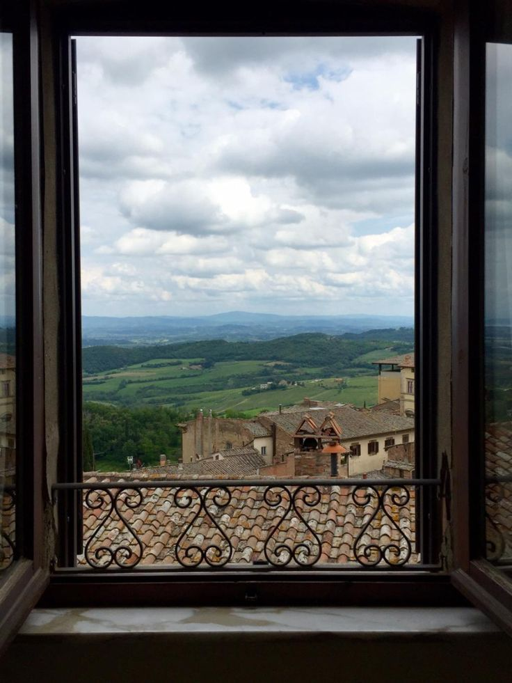 View from the bathroom of our Standard Queen Room, at #LocandaSanFrancesco, #boutiquehotel in #Montepulciano, #Tuscany