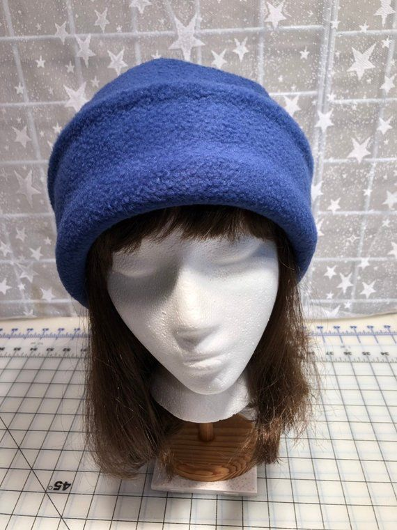 769ba0fc369e9 Adult Fleece PILLBOX Hat Navy Blue fleece hat Men's   Etsy   FASHION ...