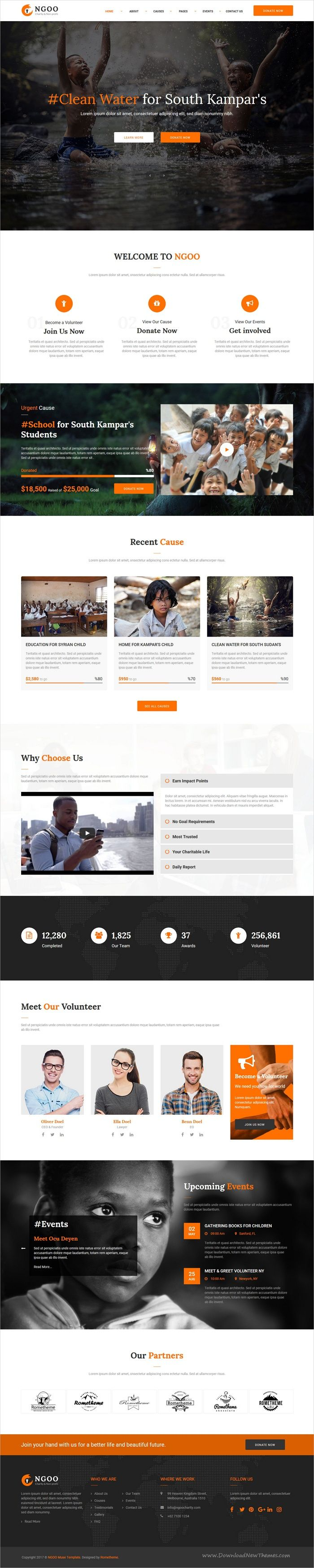 NGOO is a clean, modern, and fully 3in1 responsive #Muse Template for charity, #nonprofit, #fundraising, donation, volunteer service websites download now➩ https://themeforest.net/item/ngoo-charity-nonprofit-and-fundraising-muse-template/19381116?ref=Datasata