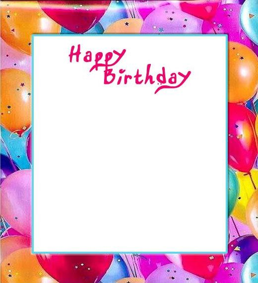 Birthday Card Frames And Borders Amtframe