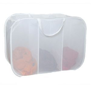 Laundry Micro Mesh 3 Compartment Pop Up Hamper