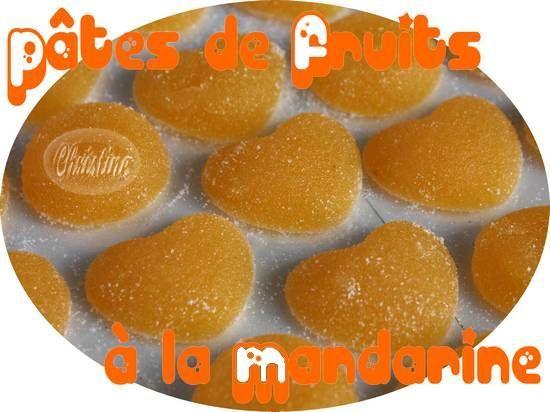 pâtes de fruits à la mandarine