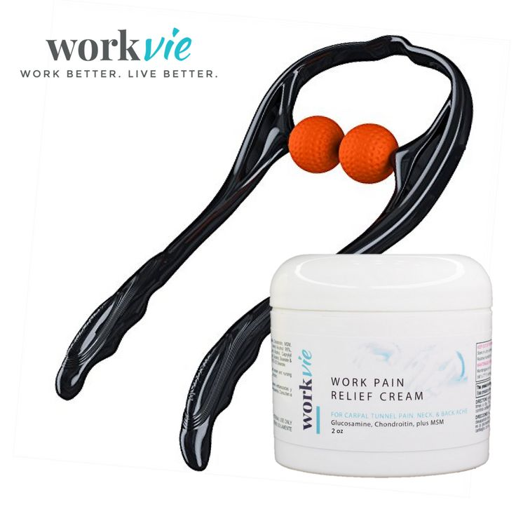 $39.95 Workvie Neck Pain Set with Pain Relief Cream and Neck Pain Massager