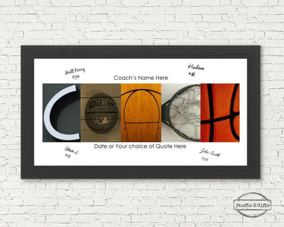 basketball coach team signature print - basketball coach team gift ...