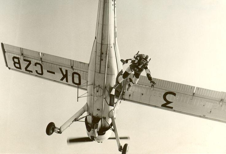 Jump from PZL-104 Wilga
