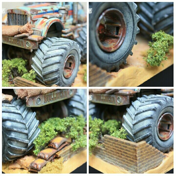 Closer look for the bullhead altogether with the diorama