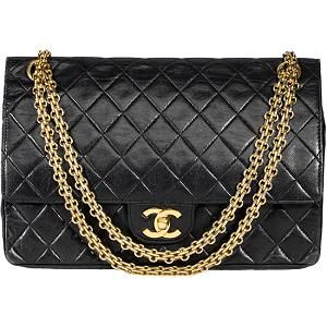 Vintage black quilted Chanel bag.