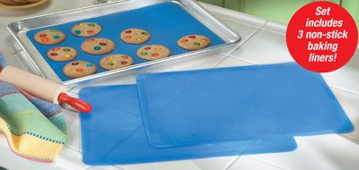 Reusable Silicone Baking Sheet Liners - Set of 3  ~XOX  #MomAndSonCookingTeam