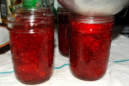 """Fig preserves ala Strawberry and Raspberry Jell-O « Bayou Woman (My grandmother made this recipe for years as I grew up- she never told me they were figs until I reached my teens.  I was totally duped- Best """"strawberry jam"""" you'll ever eat!!)"""