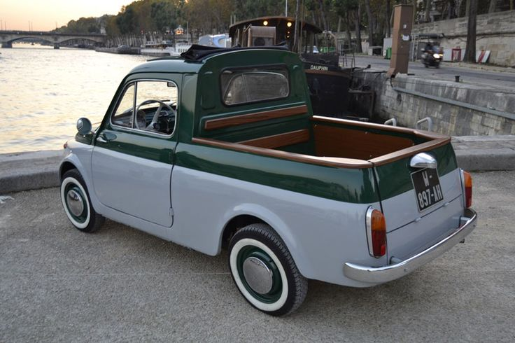 FIAT 500 Pick up.....very cute..i have never seen one like this..
