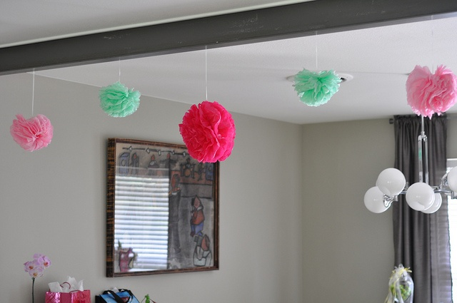 Tissue paper flowers I made for my sisters shower