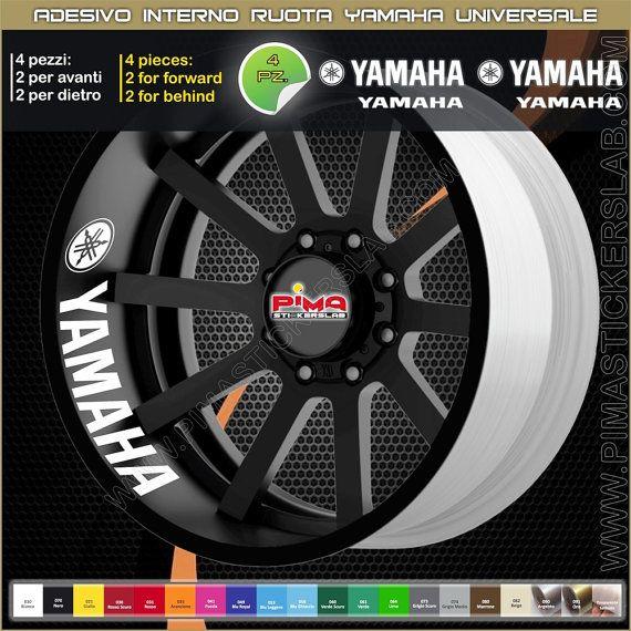 Strisce adesive cerchio Yamaha R1 R6 Xj6 mt-07 di PIMAstickerslab