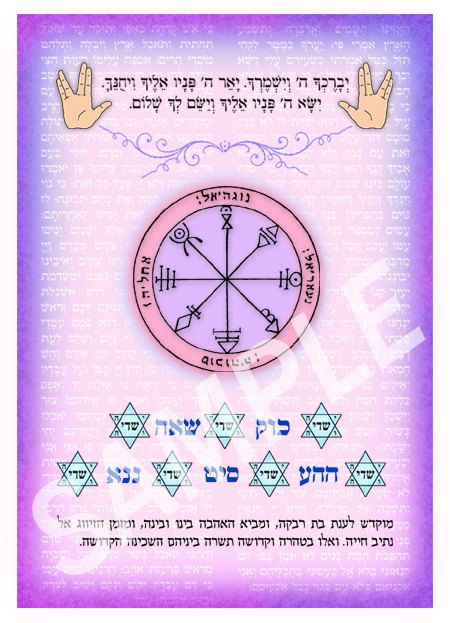 Personalized Kabbalah amulet for love passion friendships