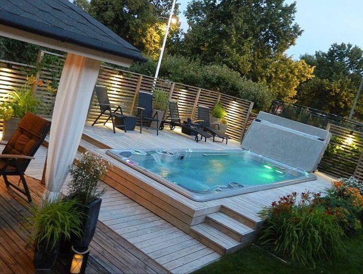 die besten 25 hinterhof whirlpools ideen auf pinterest whirlpool deck whirlpool f r drau en. Black Bedroom Furniture Sets. Home Design Ideas