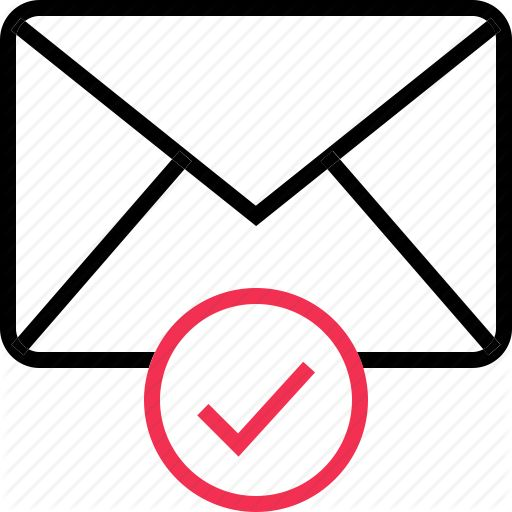 check, email, envelope, mail, mark icon