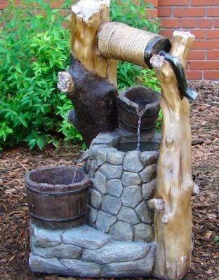 Wishing Well Outdoor Garden Patio Backyard Water Fountain Http://www.ebay.