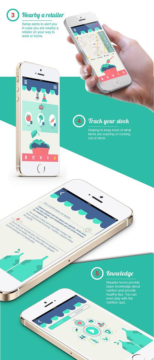 Unique App Design, Nreader #App #Design (http://www.pinterest.com/aldenchong/)
