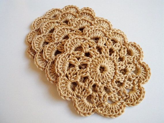 Crochet Coasters Doilies Appliques Motif Placemat by prettyobject