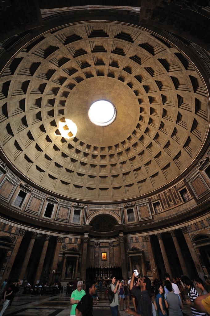 Pantheon the Dome interior Piazza del Rotonda